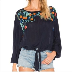 NWT Free People Up and Away Embroidered Floral